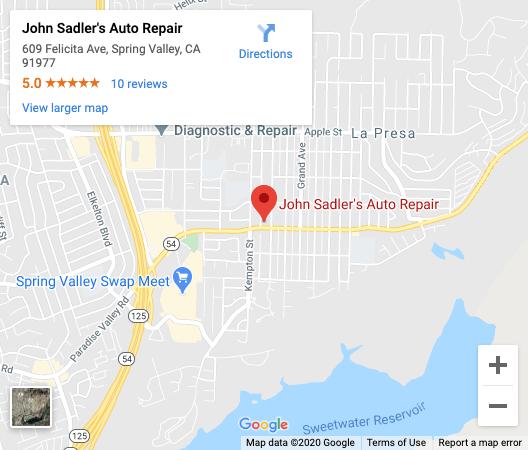 Location: John Sadler's Auto Repair